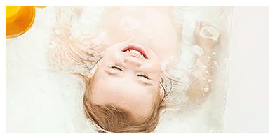 其它身體部位泡進澡盆輕柔擦洗